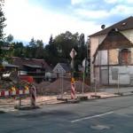 abgerissenes Gebäude in Klingenthal - der grüne Baum