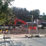 Baustelle des Grünen Baumes in Klingenthal