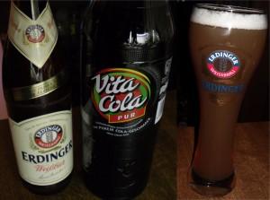 Colaweizen aus Vita Cola Pur und Erdinger Weißbier