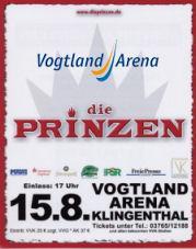 Die Prinzen in der Vogtland Arena
