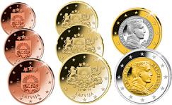 Euro Münzen Lettland