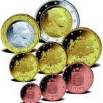 Euro Münzen Kursmünzensatz Lettland 2014