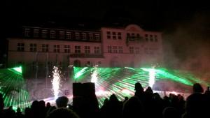 Feuerwerk mit Laser-Show auf der Welcomeparty 2013 in Klingenthal