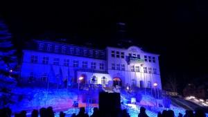 Feuerwerk / Lasershow in Klingenthal - Februar 2013