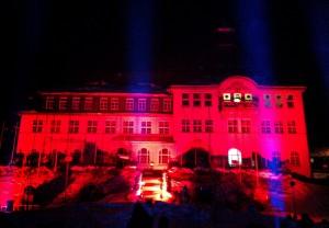 FIS TeamTour 2011 in Klingenthal: Feuerwerk & Lasershow