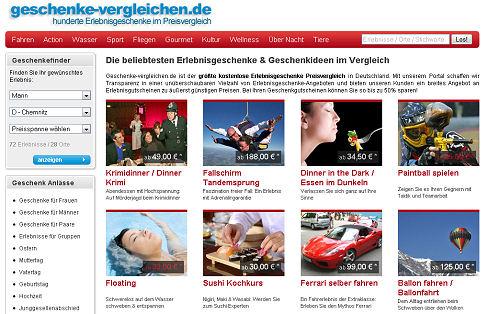 Geschenke-Vergleichen.de / erlebnisgeschenke.de