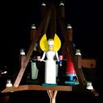 große Weihnachtsdeko in Neuensalz mit Engel und Bergmänner
