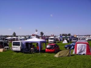 Highfield-Wohnmobil Zeltplatz