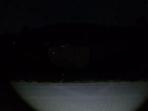 LED LENSER M7 - gestreut 100m Entfernung