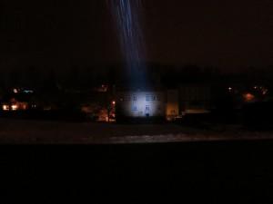 LED LENSER P7 mit fokussiertem Lichtstrahl