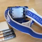 LED LENSER Stirnlampe mit Batterien oder Akku