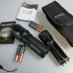 Lieferumfang der alten LED LENSER Taschenlampe