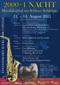 Musikfestival 2000+1 Nacht im Schloss Schlettau