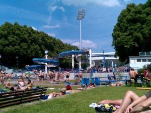 Nürnberger Freibad auf dem Rock im Park Gelände