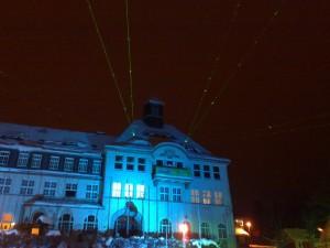 Rathaus Klingenthal - Lasershow vom Februar 2010