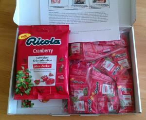 Ricola Cranberry Bonbons