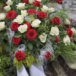 Rosen - Blumenschmuck für den Sarg