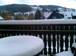 Schnee in Klingenthal im Oktober 2012