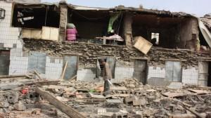 eingestürztes Haus in Kraslice