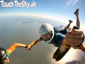 Vita Cola, Freifall, Fallschirmspringen, Usedom, Skydive