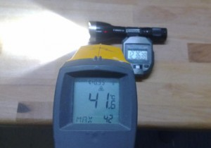 Temperaturmessung LED Taschenlampe