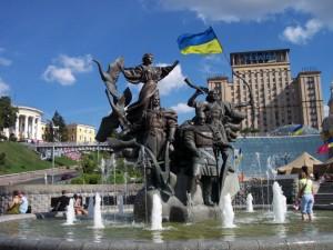 Unabhängigkeitsplatz in Kiew - Ukraine