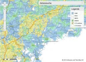 Vodafone Netzabdeckung im Vogtlandkreis