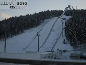 Vogtlandarena - Schnee im Winter 2010