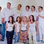 Gruppenbild, Weiße Engel