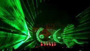 Welcomeparty mit Lasershow und Feuerwerk 2014 in Klingenthal