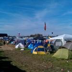 Zeltplatz - Camping auf beim Highfield 2011